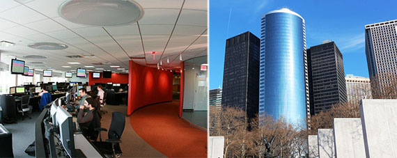 From left: IPsoft office and 17 State Street, Manhattan