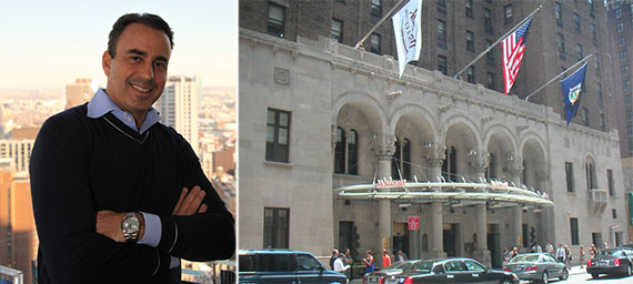 From left: Ben Ashkenazy and the New York Marriott East Side on Lexington Avenue