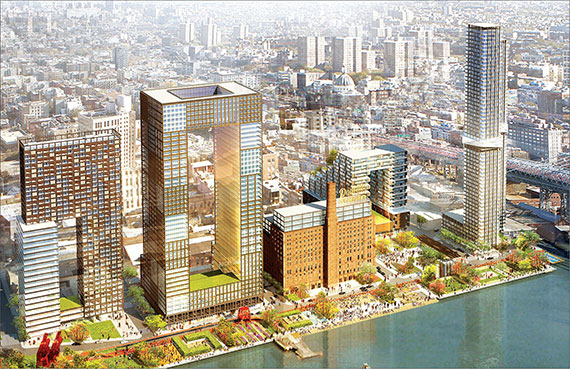 Rendering of the Domino Sugar Factory site