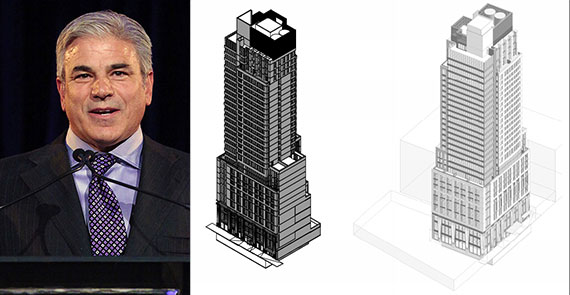 Michael Fascitelli and renderings of 509 West 38th Street