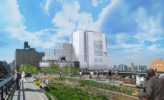 Rendering of the new Whitney museum by the High Line