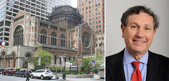 From left: St. Bartholomew's Church  in Midtown and Carl Weisbrod