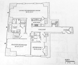 A floor plan from unit 22A (Photo: E.B. Solomont)