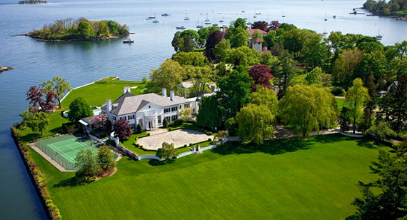 Donald Trump's first mansion in Connecticut