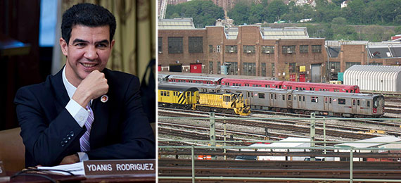 From left: Ydanis Rodriguez and the 207th Street Train Yard facility