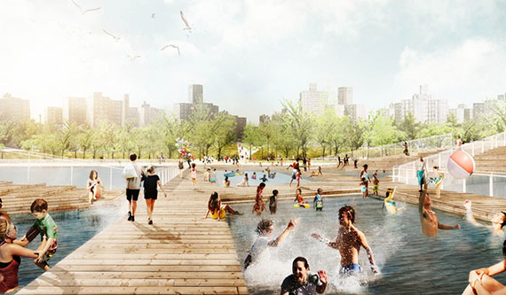 Rendering of the Dryline in Lower Manhattan (credit: Bjarke Ingels)