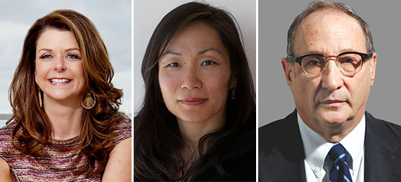 From left: MaryAnne Gilmartin, Susi Yu and Bruce Ratner