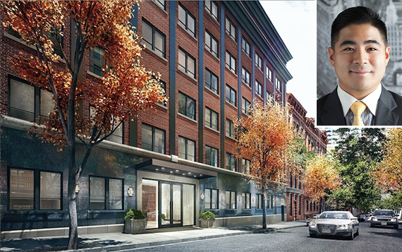 Rendering of 432 West 52nd Street in Hell's Kitchen (inset: Christopher Okada)
