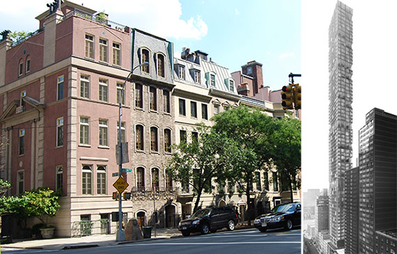 From left: Sutton Place and a rendering of