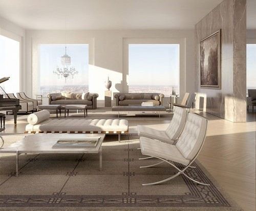 An interior rendering of 432 Park
