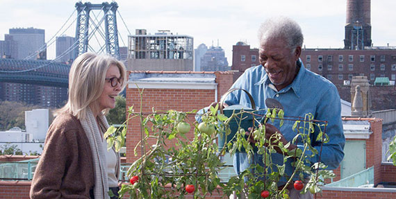 "Diane Keaton and Morgan Freeman in ""5 flights up"""