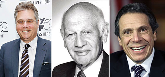 From left: Charles Dorego, Leonard Litwin and Andrew Cuomo