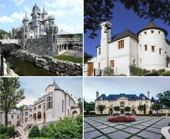 American castles currently on the market