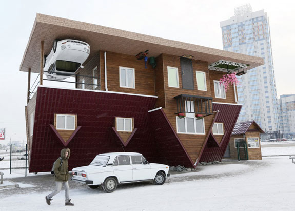 this-house-built-upside-down-in-russias-siberian-city-of-krasnoyarsk-was-constructed-as-an-attraction-for-local-residents-and-tourists-the-rooms-inside-are-all-upside-down-as-well