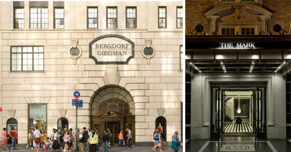 Bergdorf Goodman and the Mark hotel