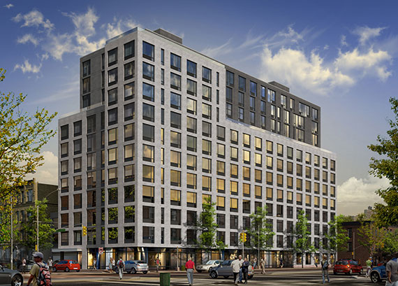 A rendering of 535 Fourth Avenue in Park Slope (Credit: Ariel Aufgang Architects)