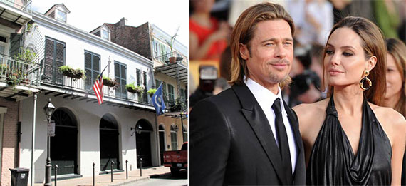 Brad Pitt, Angelina Jolie and their home in the French Quarter of New Orleans