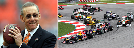Stephen Ross and a Formula 1 race