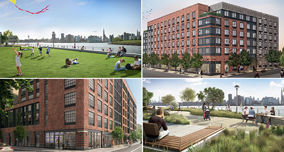 Renderings of the Greenpoint Landing development in Greenpoint (credit: Handel Architects)