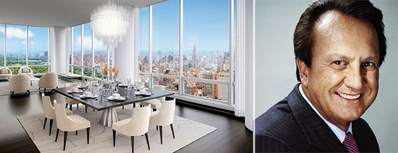 From left: rendering of a unit inside One57 and Edson Bueno