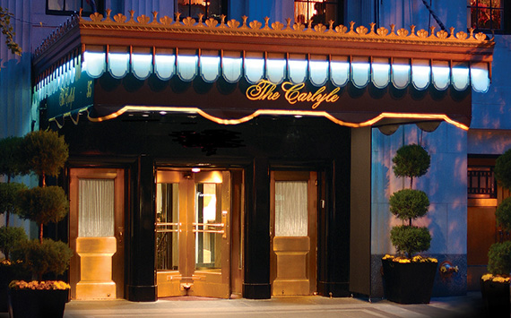 The Carlyle Hotel at 35 East 76th Street on the Upper East Side