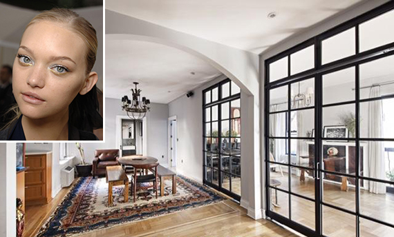 232 East 6th Street in the East Village (inset: Gemma Ward)