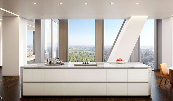 A rendering of a kitchen inside 53 West 53rd Street (Credit: Jean Nouvel)