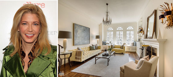 Candace Bushnell and her apartment