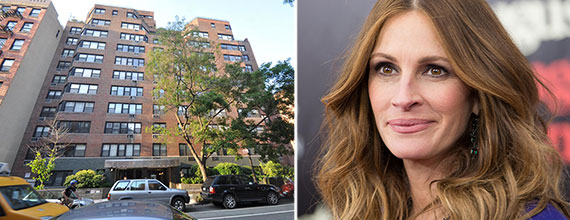 From left: 45 West 10th Street and Julia Roberts