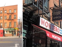 From left: 73 Atlantic Avenue and Montero Bar and Grill in Brooklyn Heights