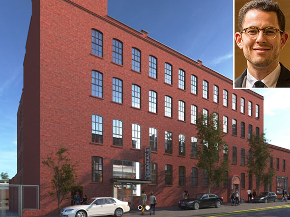 Rendering of 92 Third Street in Gowanus (credit: LIVWRK) (inset: Asher Abehsera)