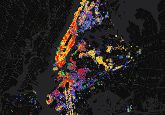 Fluctuations in the city's rent-regulated apartments since 2007 (credit: docker4data)