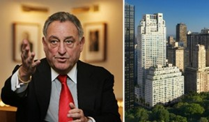 From left: Sandy Weill and 15 Central Park West