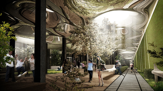 Rendering of the Lowline on the Lower East Side (credit: Raad Studio)