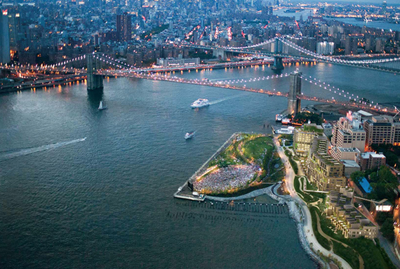 Rendering of Pierhouse in Brooklyn Bridge Park (credit: Rogers Marvel Architect)