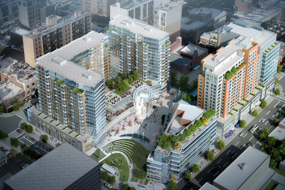 Flushing Commons, rendering by Conway+Partners via the New York Times