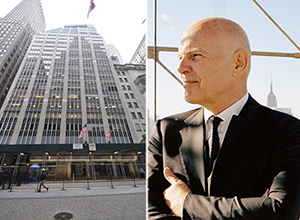From left: 20 Broad Street in the Financial District and Vornado chairman Steven Roth