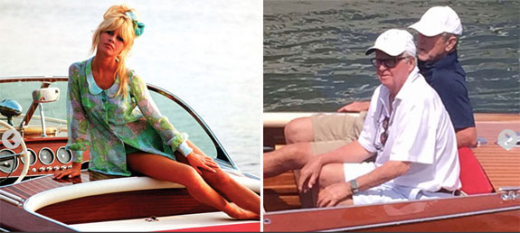 George W. Bush cruised around the Hamptons in a boat previously owned by Brigitte Bardot.