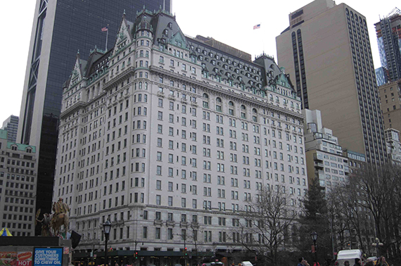 The Plaza Hotel on Central Park in Midtown