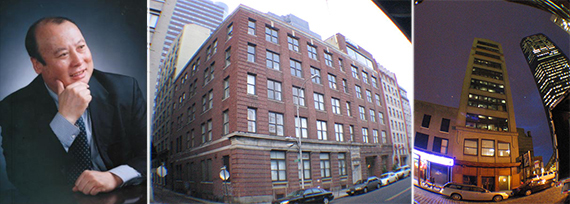 From left: Oceanwide Holdings chairman Lu Zhiqiang, 80 South Street and 163 Front Street