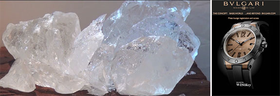 Ice from a Norwegian glacier and the Bulgari Vault