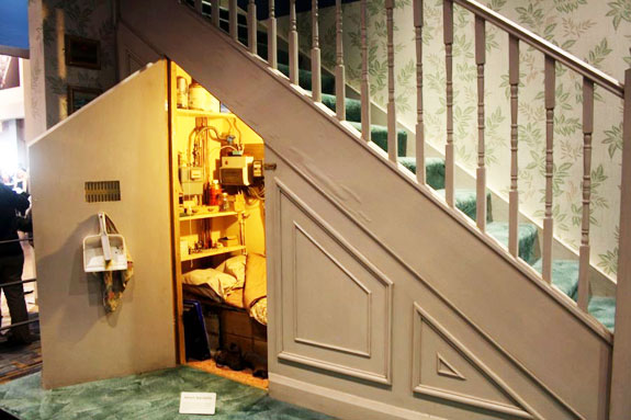 The cupboard under the stairs used in the Harry Potter films