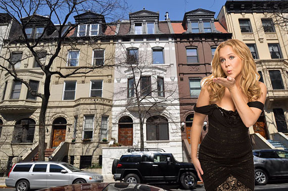 129 West 80th Street on the Upper West Side (inset: Amy Schumer)