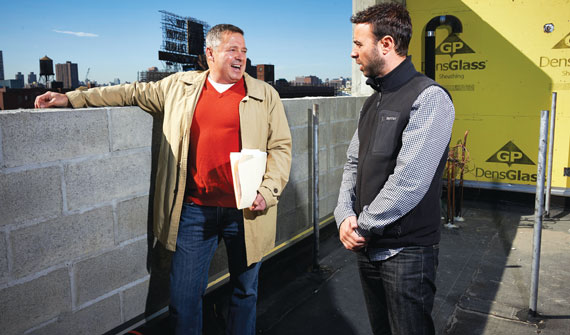 From left: William Bollinger and Joshua Weissman, both of JCAL Development Group