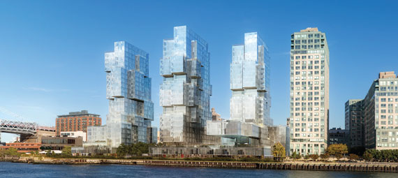 A rendering of Spitzer's 800-unit plus Williamsburg project
