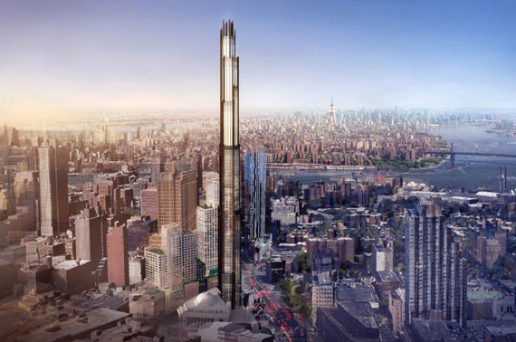 A rendering of 340 Flatbush Avenue Extension by SHoP Architects