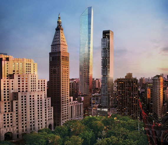 A rendering of 45 East 22nd Street by Williams New York