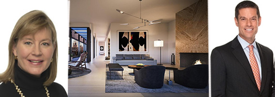 From left: Shelley O'Keefe, 505 West 19th Street #PH1 in West Chelsea and Michael Johnson