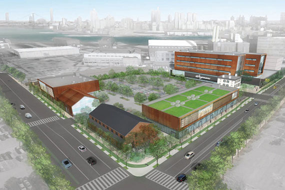 A rendering of the Admiral's Row redevelopment at the Brooklyn Navy Yard (credit: Beyer Blinder Belle)