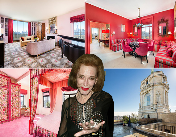 Helen Gurley Brown's penthouse at the Beresford has gone into contract